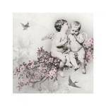 Салфетка бумажная 33 x 33 см (3 слоя, 20 шт в уп) Angelic Chic