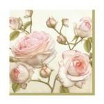 Салфетка бумажная 33 x 33 см (3 слоя, 20 шт в уп) Beauty Roses
