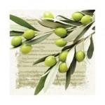 Салфетка бумажная 33 x 33 см (3 слоя, 20 шт в уп) Greek Olives