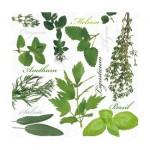 Салфетка бумажная 33 x 33 см (3 слоя, 20 шт в уп) Herbal taste