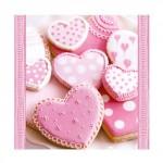 Салфетка бумажная 33 x 33 см (3 слоя, 20 шт в уп) Heart Cakes