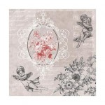 Салфетка бумажная 33 x 33 см (3 слоя, 20 шт в уп) Angels among Flowers