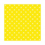 Салфетка бумажная 33 x 33 см (3 слоя, 20 шт в уп) Dots intense yellow