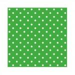 Салфетка бумажная 33 x 33 см (3 слоя, 20 шт в уп) Dots intense green
