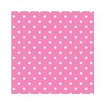 Салфетка бумажная 33 x 33 см (3 слоя, 20 шт в уп) Dots cyclamen