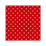 Салфетка бумажная 33 x 33 см (3 слоя, 20 шт в уп) Dots red